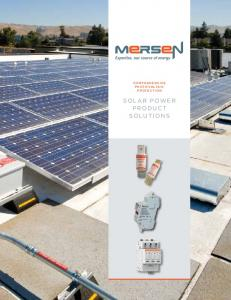 comprehensive photovoltaic protection solar power product solutions