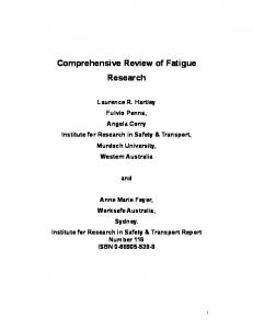 Comprehensive Review of Fatigue Research