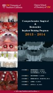 Comprehensive Surgical & Restorative Implant Training Program