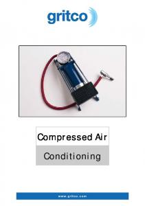 Compressed Air. Conditioning