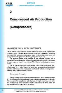 Compressed Air Production