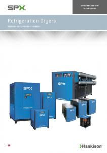 COMPRESSED AIR TECHNOLOGY. Refrigeration Dryers TECHNOLOGY PRODUCT RANGE