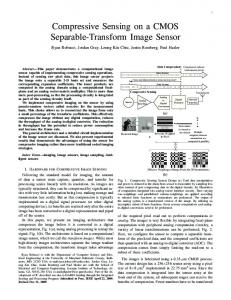 Compressive Sensing on a CMOS Separable-Transform Image Sensor