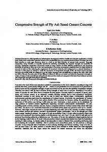 Compressive Strength of Fly Ash Based Cement Concrete