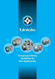 Compressor Fitting Guidelines for New Applications