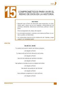 COMPROMETIDOS PARA VIVIR EL REINO DE DIOS EN LA HISTORIA