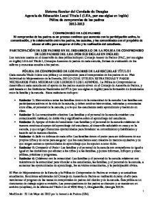COMPROMISO DE LOS PADRES