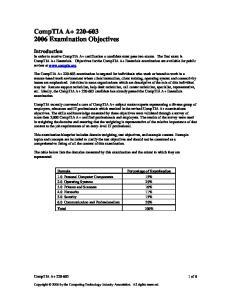 CompTIA A Examination Objectives