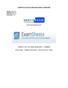 COMPTIA N EXAM QUESTIONS & ANSWERS