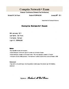 Comptia Network+ Exam