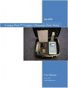 Compu-Flow Doppler Ultrasonic Flow Meter