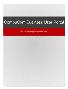 CompuCom Business User Portal. End-Users Reference Guide