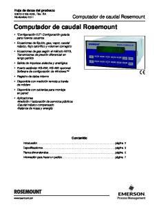 Computador de caudal Rosemount