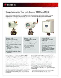 Computadoras de flujo serie Scanner 2000 CAMERON