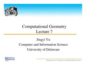 Computational Geometry Lecture 7