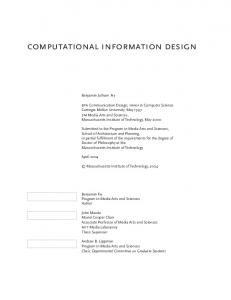 computational information design