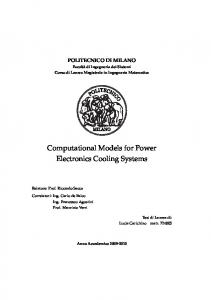 Computational Models for Power Electronics Cooling Systems