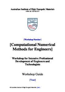 [Computational Numerical Methods for Engineers]