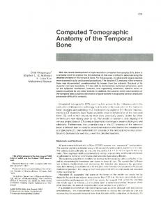 Computed Tomographic Anatomy of the Temporal Bone