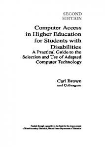 Computer Access in Higher Education for Students with Disabilities