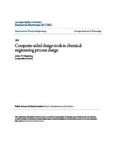 Computer-aided design tools in chemical engineering process design