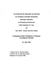 Computer-Aided Validation of Formal Conceptual Models
