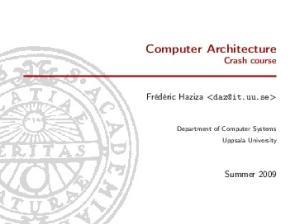 Computer Architecture Crash course