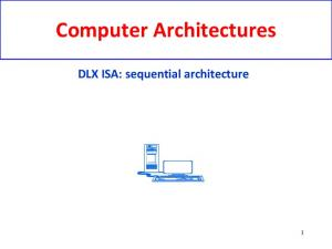 Computer Architectures. DLX ISA: sequential architecture