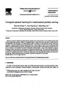 Computer-assisted learning for mathematical problem solving