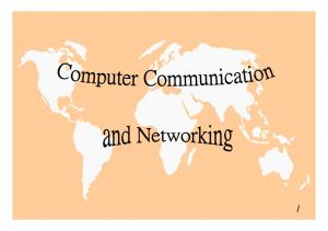 Computer Communication & Networking. The Need for Networking Types of Network Means of Communication Communication Software Network Topology Protocol