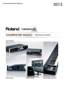 Computer Music Product Guide 2012 COMPUTER MUSIC PRODUCT GUIDE AUDIO INTERFACE