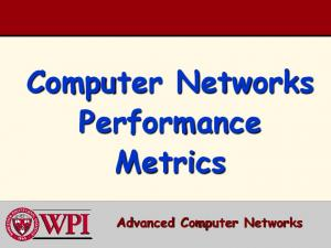 Computer Networks Performance Metrics. Advanced Computer Networks