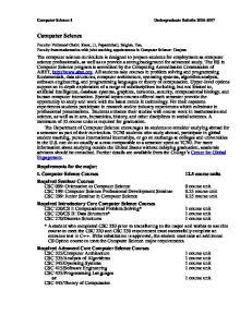 Computer Science-1 Undergraduate Bulletin