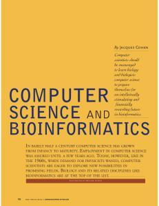 COMPUTER SCIENCE AND BIOINFORMATICS
