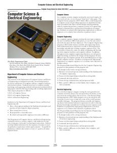 Computer Science and Electrical Engineering