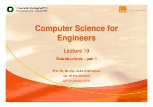 Computer Science for Engineers