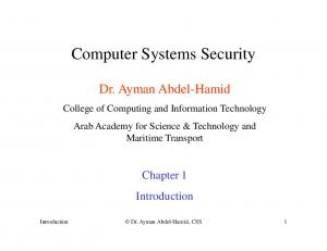 Computer Systems Security