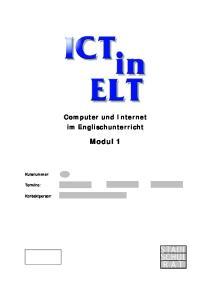 Computer und Internet im Englischunterricht Modul 1