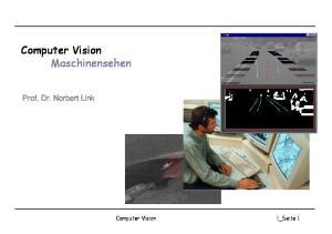 Computer Vision Maschinensehen