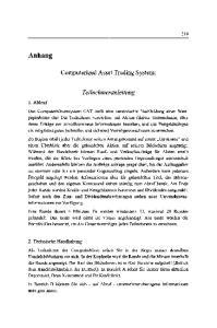 Computerized Asset Trading System: Teilnehmeranleitung