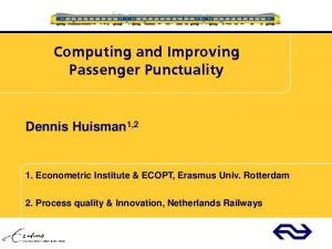 Computing and Improving Passenger Punctuality