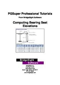 Computing Bearing Seat Elevations
