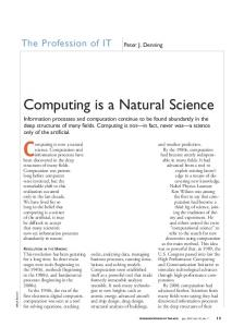 Computing is now a natural