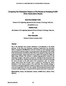 Computing Non-Hydrostatic Pressure on Flip Buckets by Processing NASIR Finite Volume Solver Results