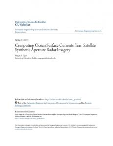 Computing Ocean Surface Currents from Satellite Synthetic Aperture Radar Imagery