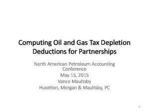Computing Oil and Gas Tax Depletion Deductions for Partnerships