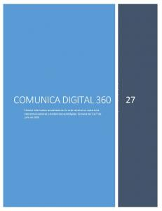 COMUNICA DIGITAL 360 COM 27 COMUNICA DIGITAL 360 A DIGITAL 360