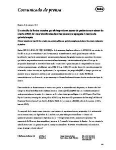 Comunicado de prensa. Basilea, 2 de junio de 2012