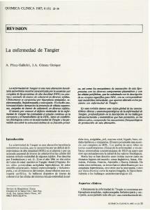 con enfermedad de Tangier