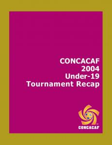 CONCACAF 2004 Under-19 Tournament Recap